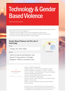 Technology & Gender Based Violence Discussions